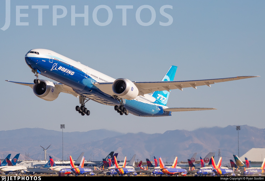 777X departing Victorville