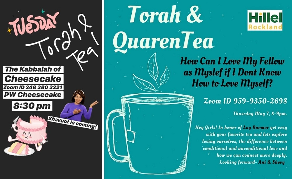 Torah & Tea flyers