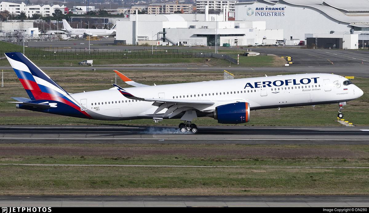 Aeroflot's first A350