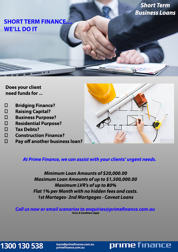 short term finance, finance provider, short term finance in australia