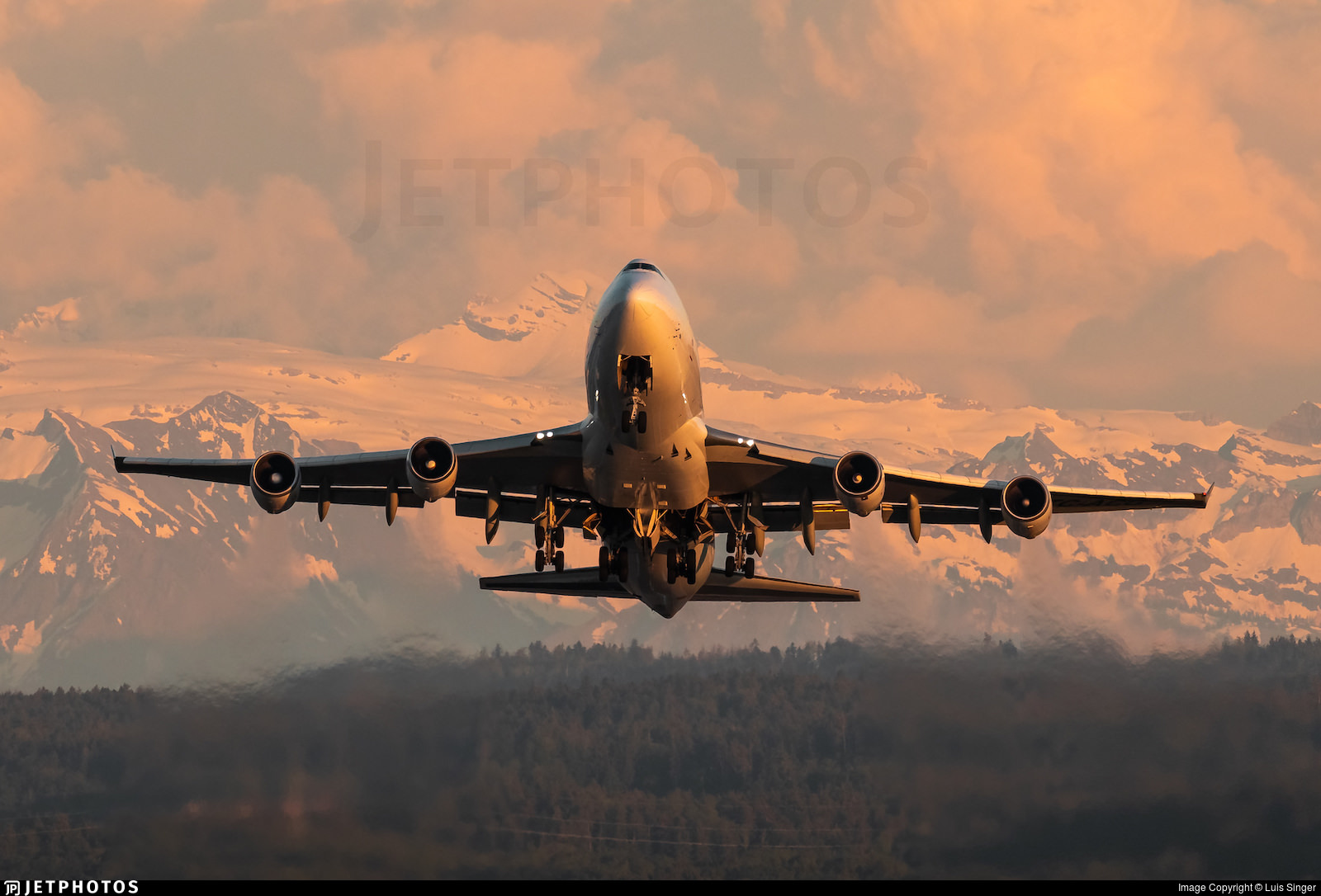 ACT Airlines 747 departing Zurich