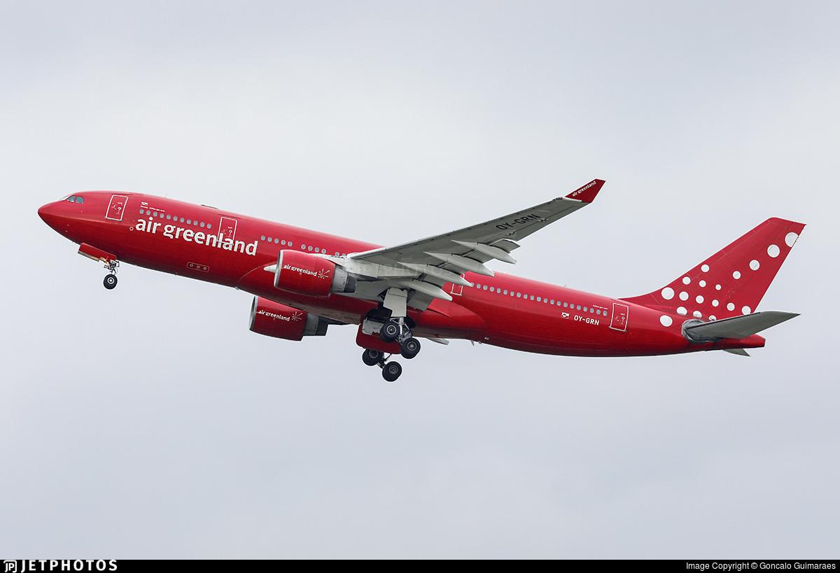 Air Greenland's A330-200 OY-GRN