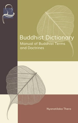 Cover Buddhist Dictionary