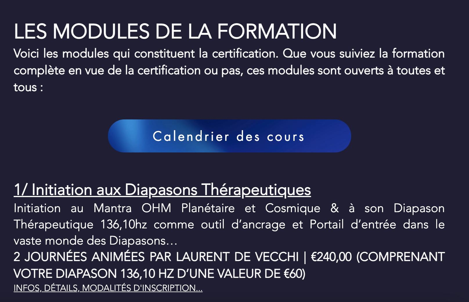 La formation certifiante en                                         Sonothérapie Intuitive©