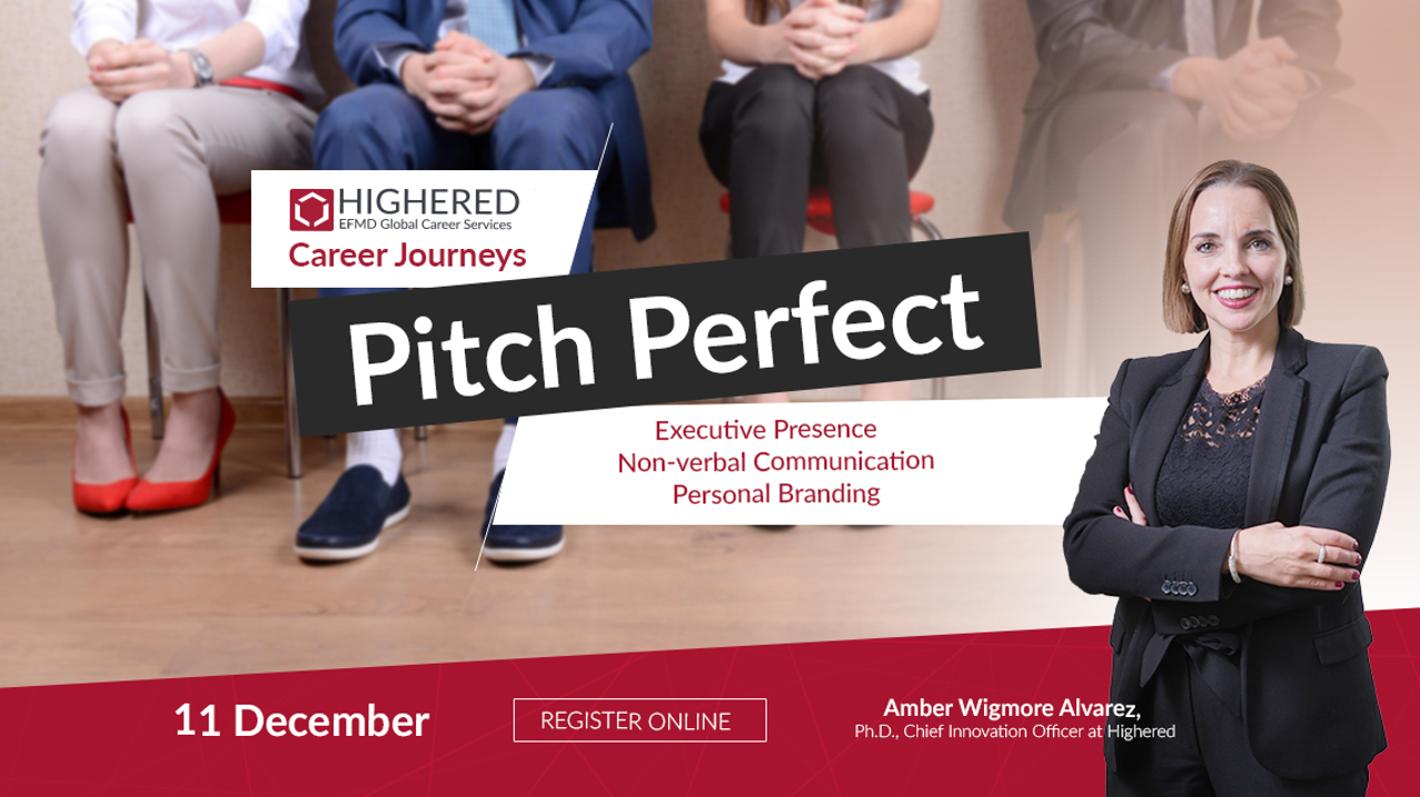PITCH PERFECT:  UPCOMING WEBINAR FOR STUDENTS