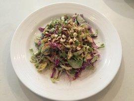 brussels salad with yogurt dressing