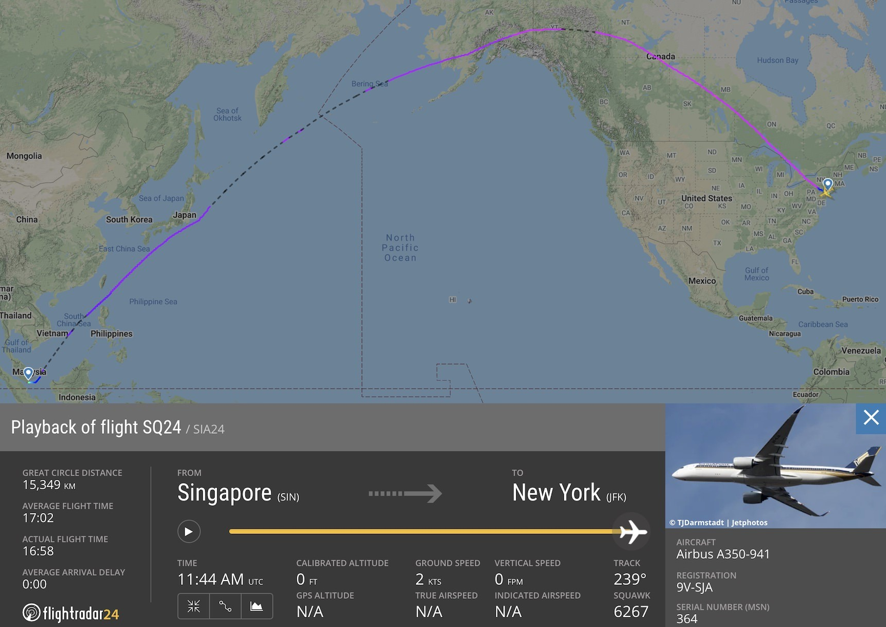 Singapore Airlines flight SQ24