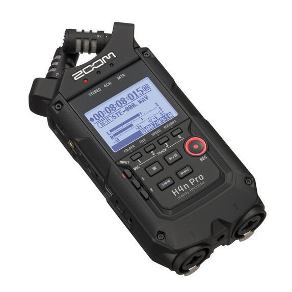 Grabadora de Audio ZOOM H4n Pro NEGRA de 4 canales
