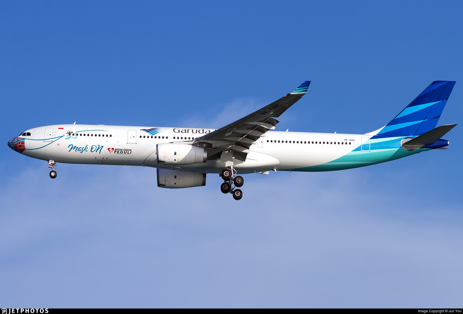 Garuda's 'Mask On' A330