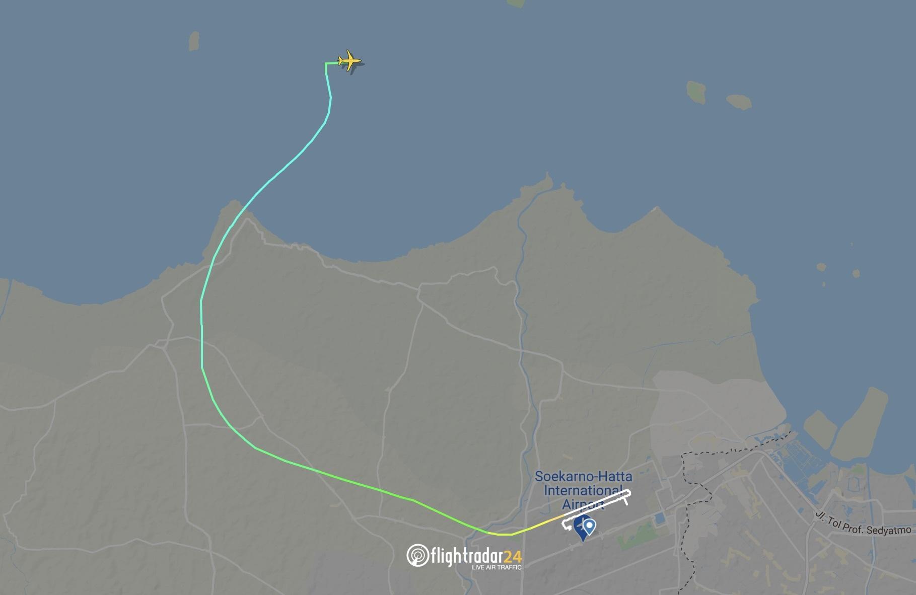 Flight path of SJ182