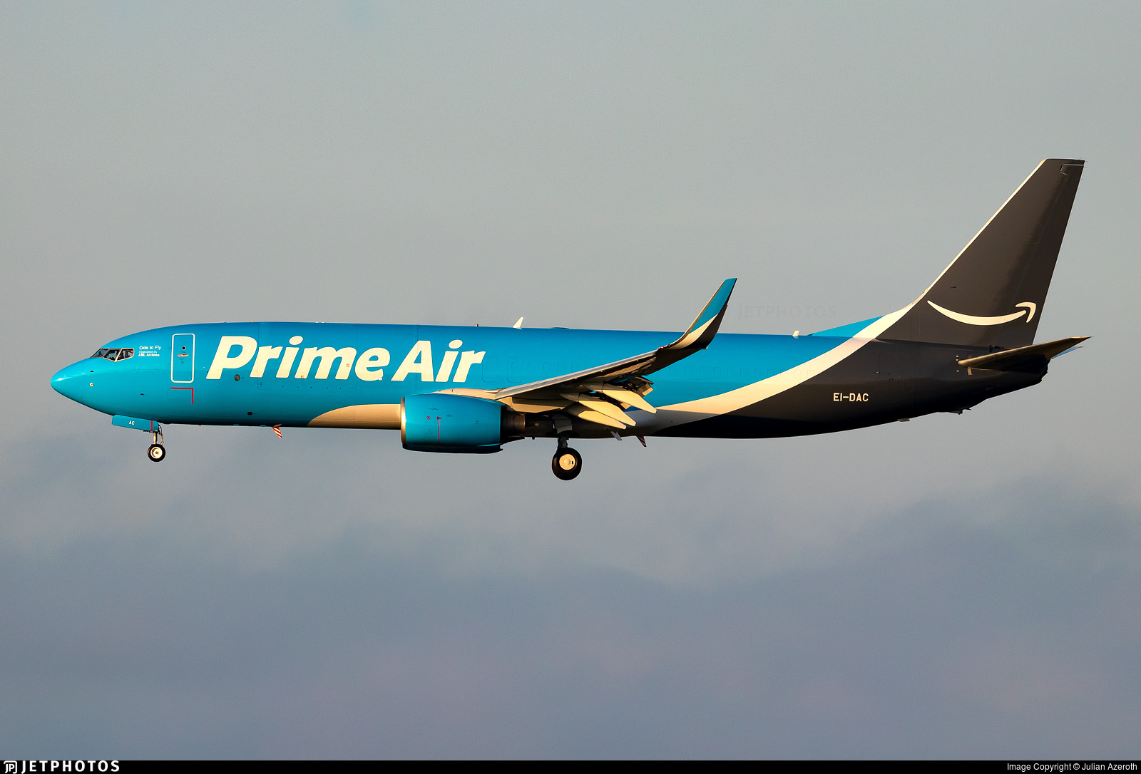 Amazon Prime Air 737 operated by ASL Airlines