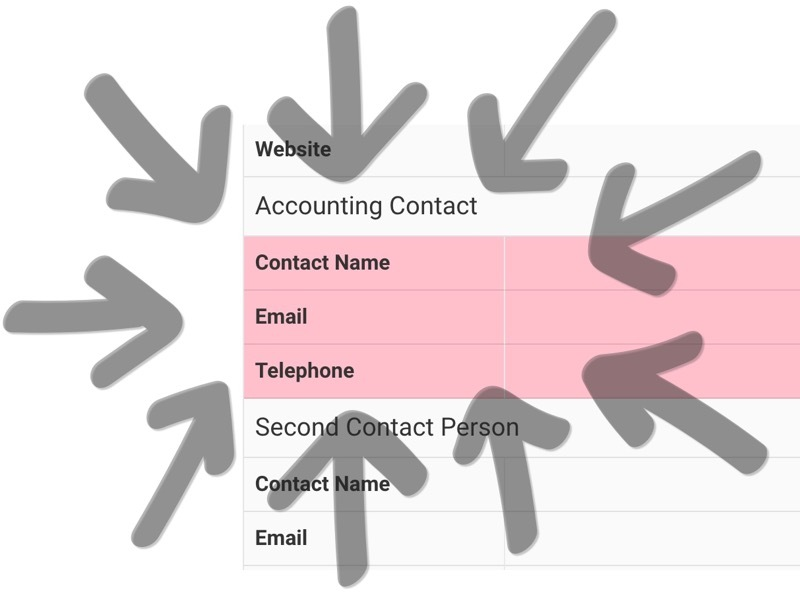 Add an accounting contact