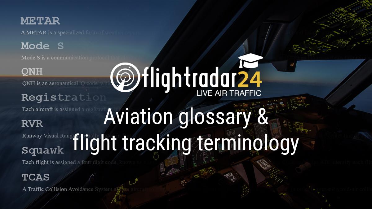 Flightradar24 glossary