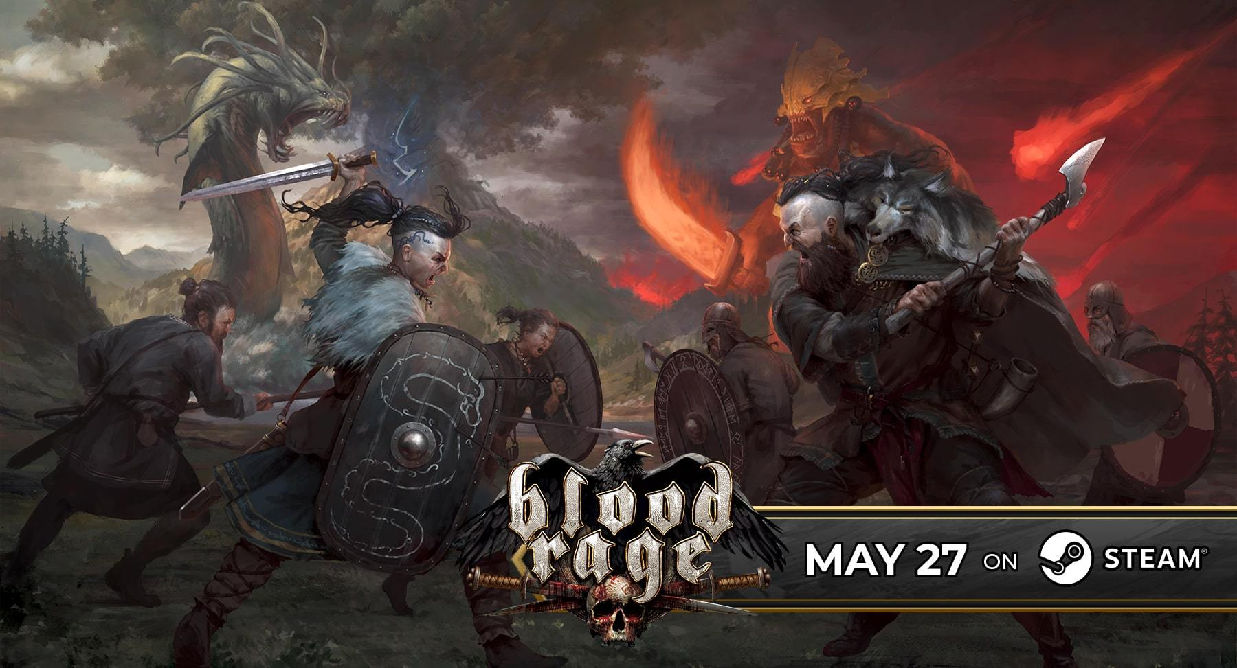 Blood Rage May 27 on Steam