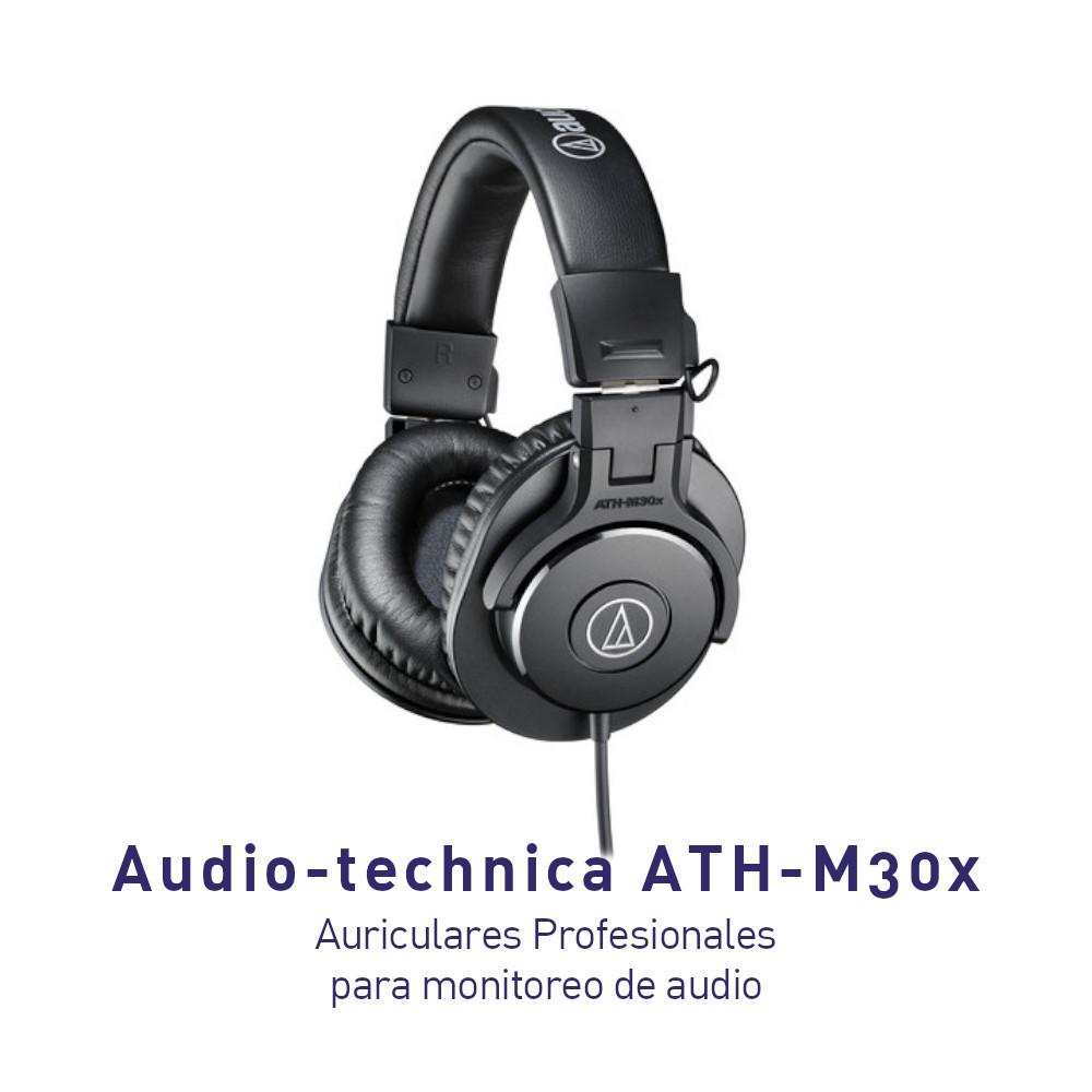 Audífonos Audio-technica ATH-M30x Auriculares Profesionales para monitoreo de audio