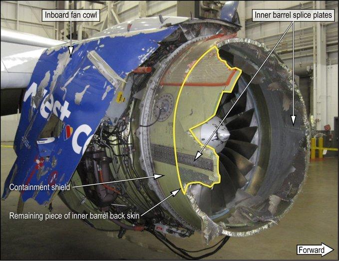 Failed engine on Southwest 1380