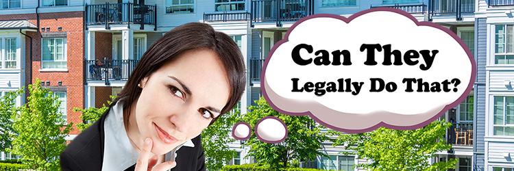 Can HOA & Condo Associations Legally do That?