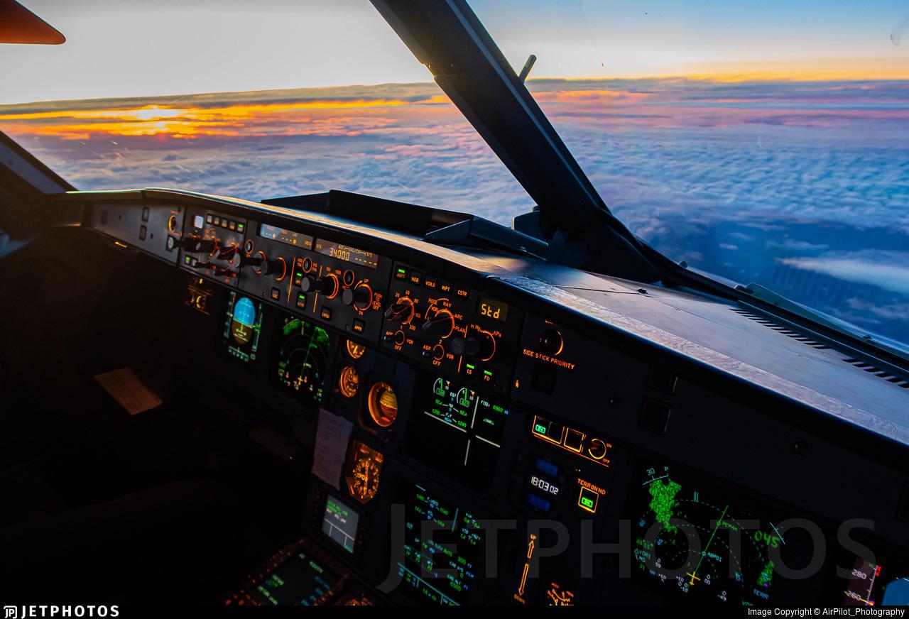 A319 Flight deck
