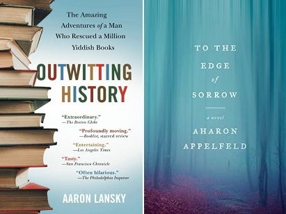 book covers of Outwitting History and To the Edge of Sorrow