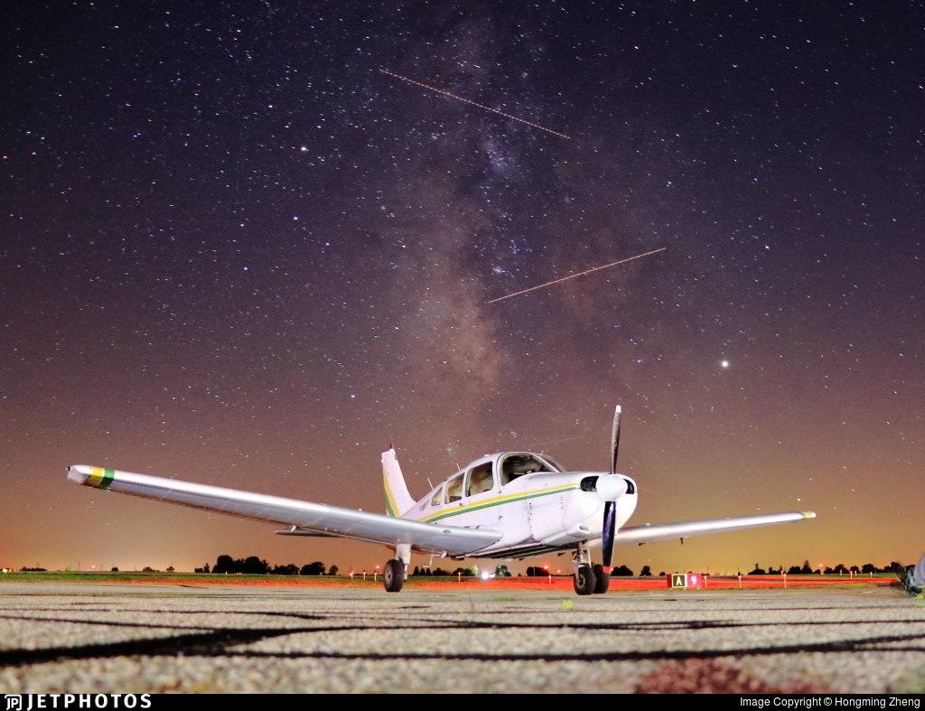 Piper Warrior under the stars