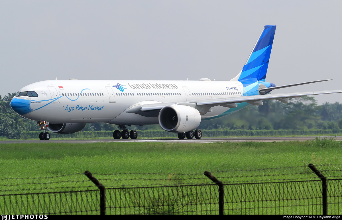 A330neo PK-GHG with mask