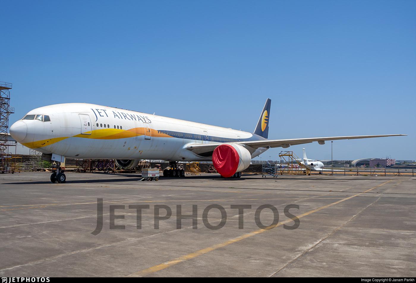 Jet Airways 777 stored in Mumbai