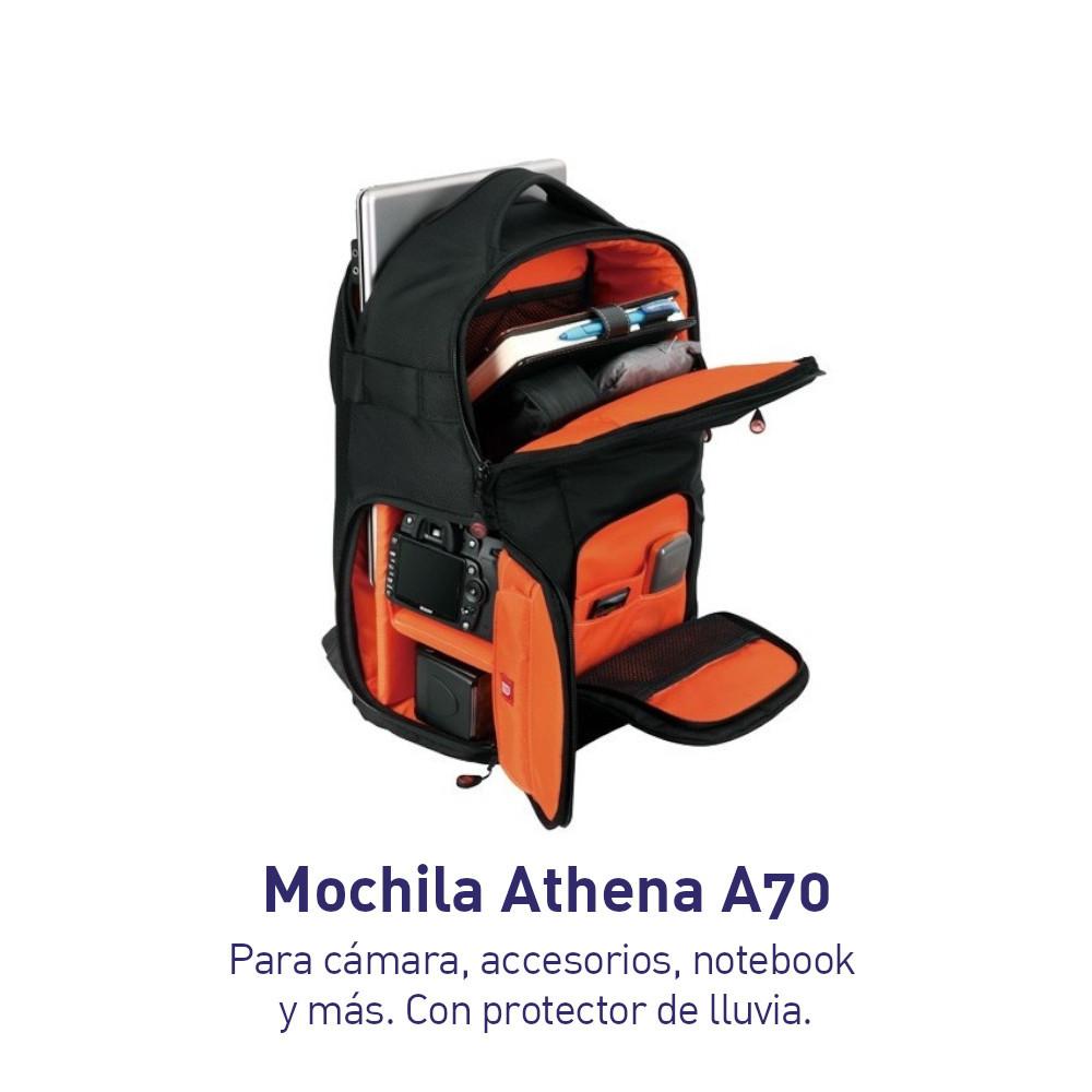 Mochila Nest Athena A70 para cámara, accesorios y notebook
