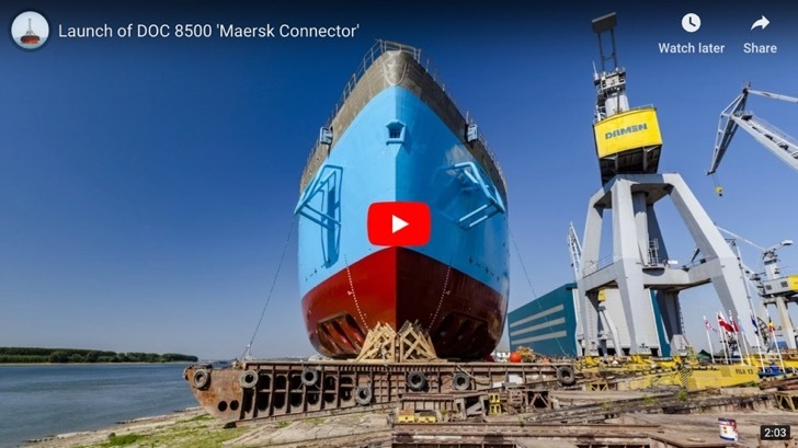 Launch of Maersk Vessel