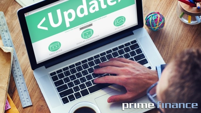 prime finance, website update
