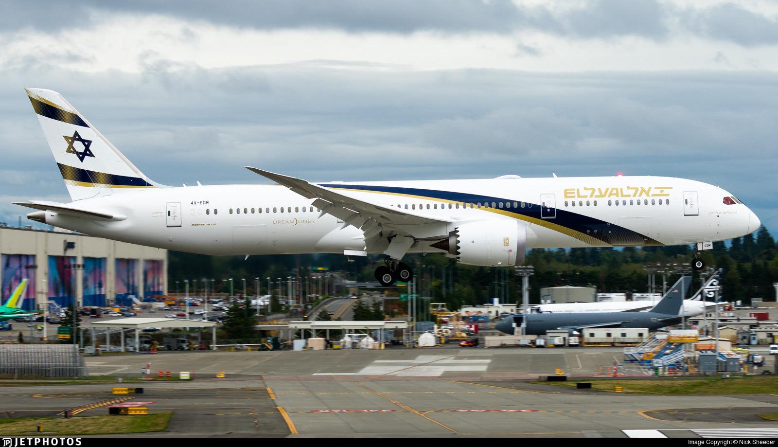El Al's 'Jerusalem of Gold' livery 787