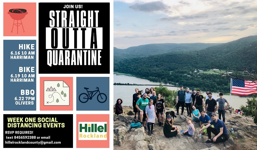 Straight Outta Quarantine flyer and hiking group