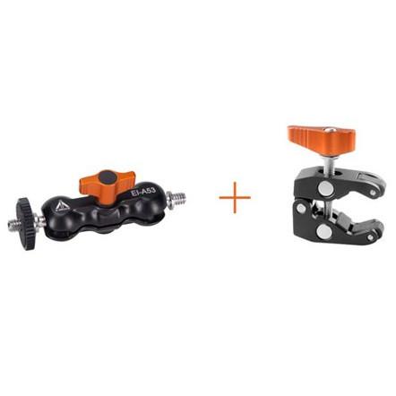 E-image EI-A53K kit incluye MINI brazo EI-A53 y MINI pinza EI-A055S para accesorios