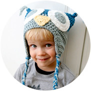 Handmade Crochet Owl Hat with Tassels