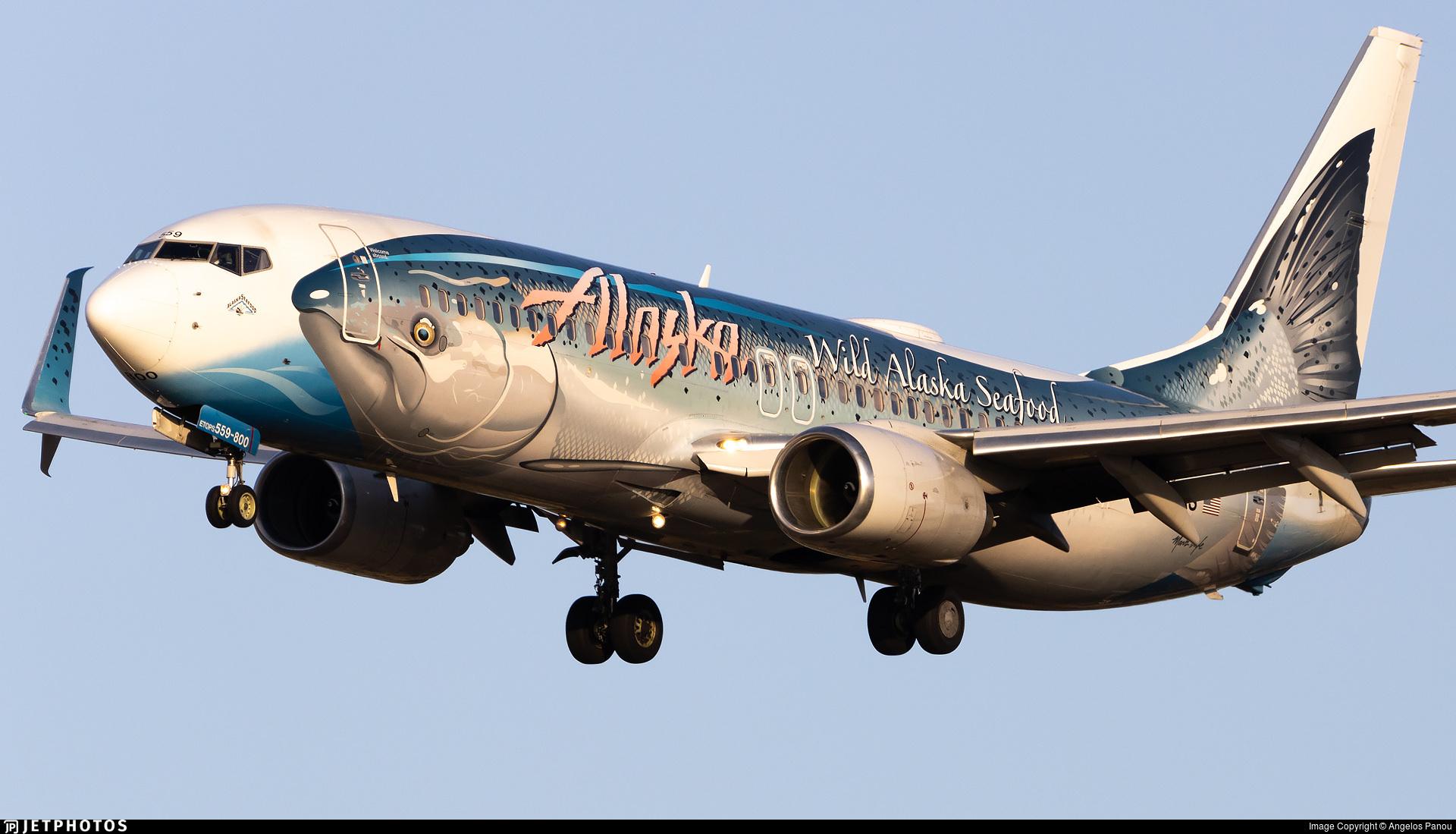 Alaska Airlines Salmon Thirty-Salmon 737