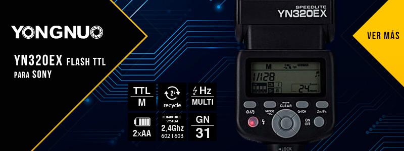 YN320EX Flash TTL para Sony