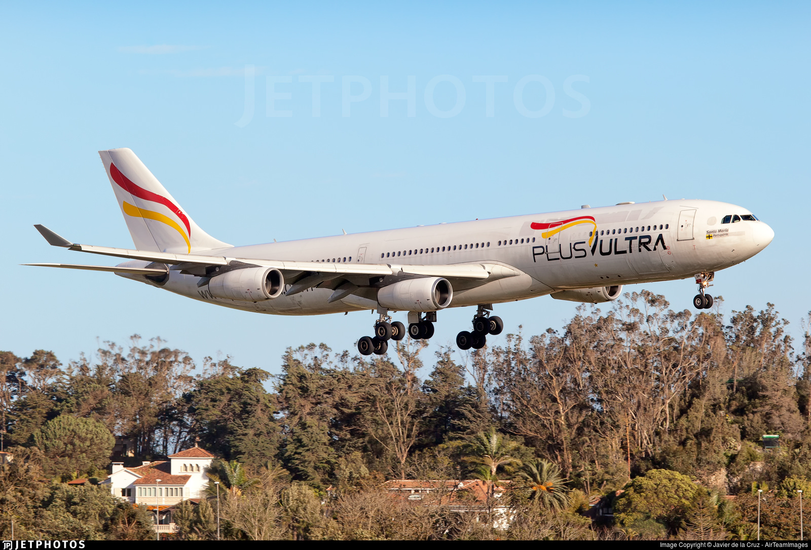 A PlusUltra A340, the 4 millionth photo in the JetPhotos catalog