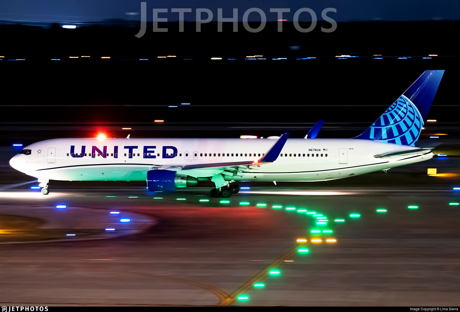The first widebody aircraft to wear United's revised livery
