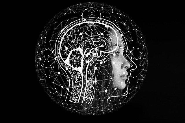 Artificial Intelligence Illustration of Head